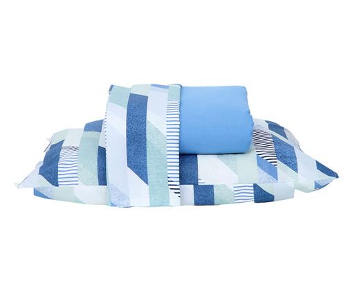 Jogo de Lençol Tommy Azul - 120 Fios, Azul | WestwingNow