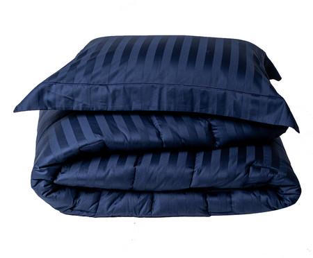 Jogo de Edredom com Porta-Travesseiro Stripe Marinho - 260 Fios   WestwingNow
