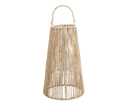 Lanterna em Fibra Natural Ienne - Bege, Marrom | WestwingNow