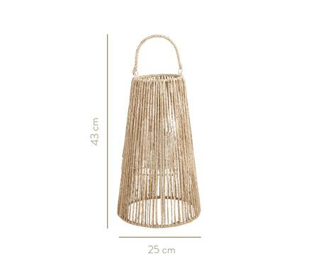 Lanterna em Fibra Natural Ienne - Bege | WestwingNow