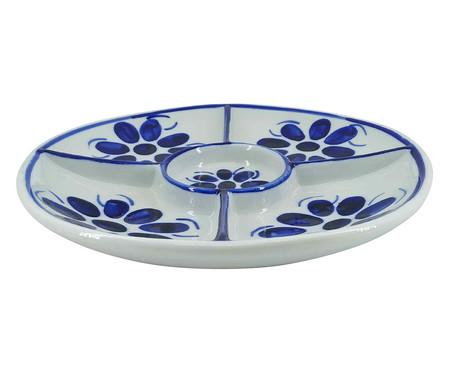 Petisqueira em Porcelana Colonial Redonda - Azul | WestwingNow