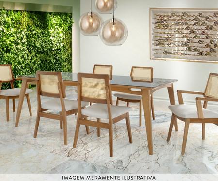 Mesa de Jantar Retangular Madeira Conde - Amêndoa natural | WestwingNow