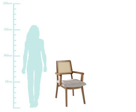 Cadeira Conde com Braço Apolline - Amêndoa Natural | WestwingNow