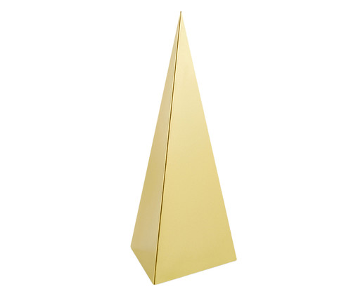 Adorno Pirâmide - Dourado, Dourado | WestwingNow