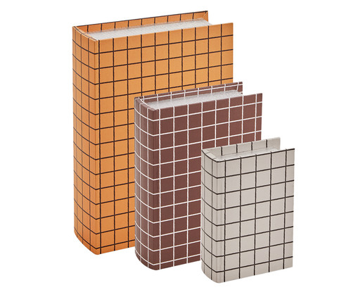 Jogo de Book Boxes Antonelli - Colorido, Branco, Marrom, Laranja, Colorido | WestwingNow