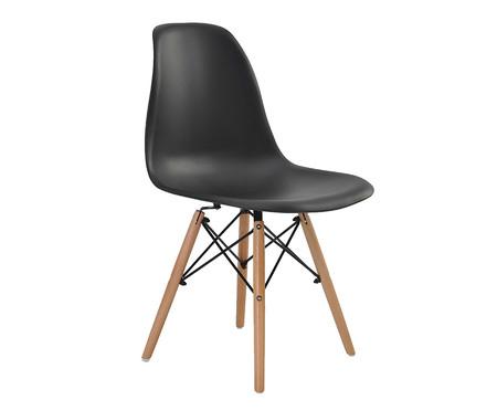 Jogo de Cadeiras Eiffel Preto - 04 Peças | WestwingNow