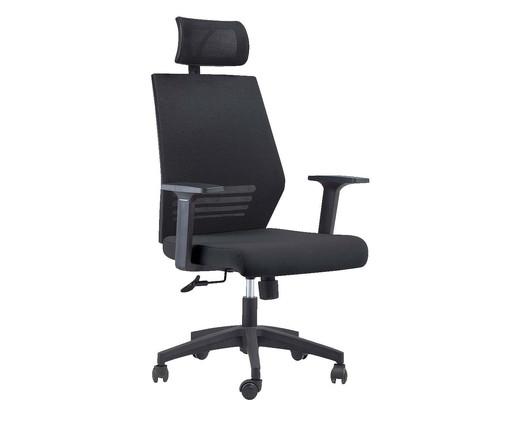 Cadeira Office Braga com Encosto - Preto, Preto | WestwingNow