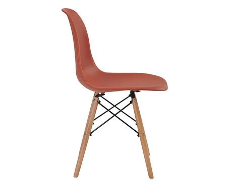 Jogo de Cadeiras Eiffel Laranja Telha - 02 Peças | WestwingNow