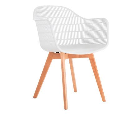 Cadeira Agnes com Braço - Branco   WestwingNow