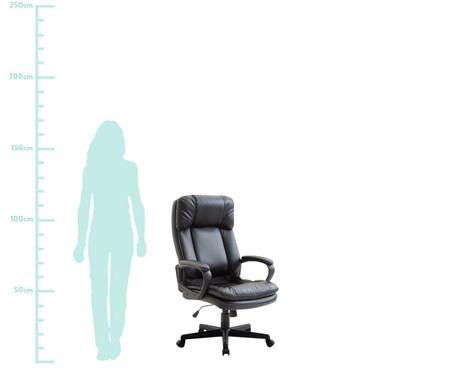 Cadeira Office Bermeu Americana - Preto | WestwingNow