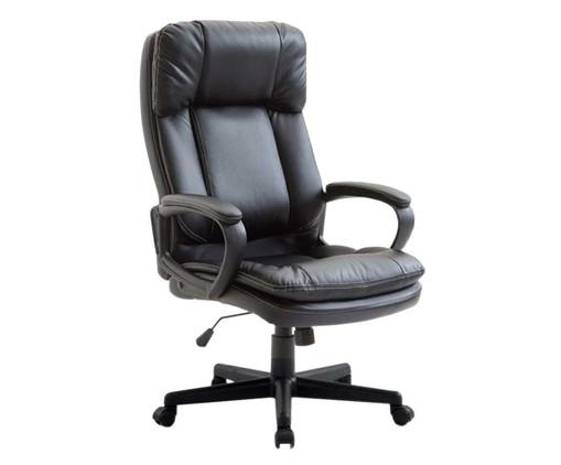 Cadeira Office Bermeu Americana - Preto, Preto   WestwingNow
