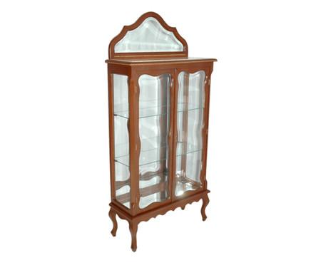 Cristaleira de Madeira com Vidro Clare - Castanha | WestwingNow
