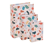 Jogo de Book Boxes Longo - Colorido | WestwingNow