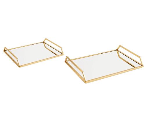 Jogo de Bandejas Debbi - Dourado, Dourado | WestwingNow