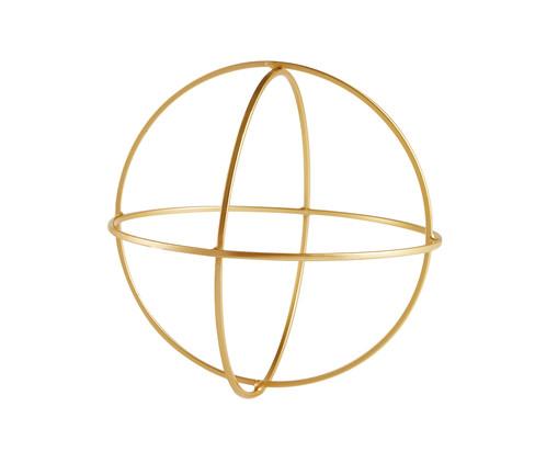 Adorno Geométrico Redondo em Metal - Dourado, Dourado | WestwingNow