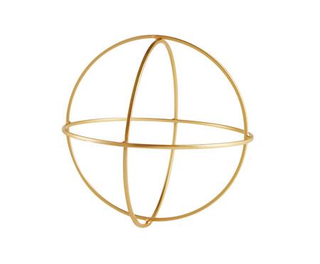 Adorno Geométrico Redondo em Metal - Dourado | WestwingNow
