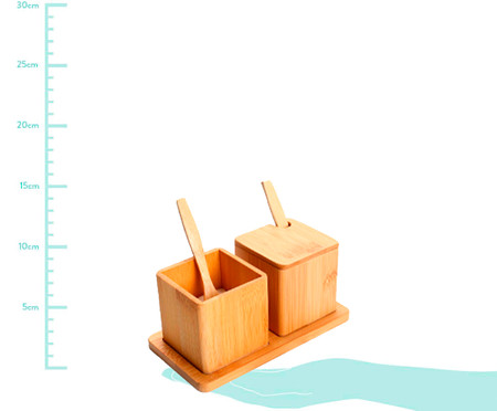 Porta-Condimentos Duplo Bambu Ava | WestwingNow