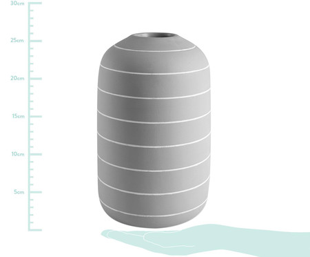 Vaso em Cimento Freida III - Cinza | WestwingNow