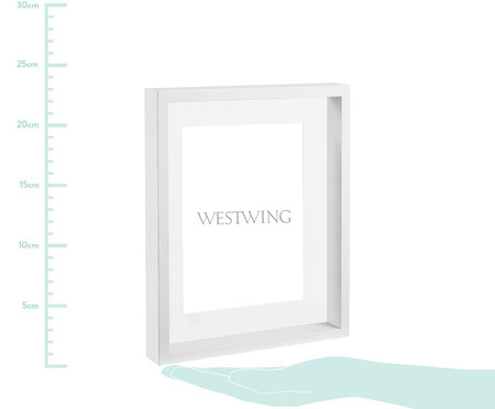 Porta-Retrato Kasey - Branco | WestwingNow
