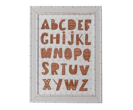 Quadro Letras - Bege | WestwingNow