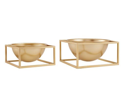 Jogo de Cachepots Urice - Dourado, Dourado | WestwingNow