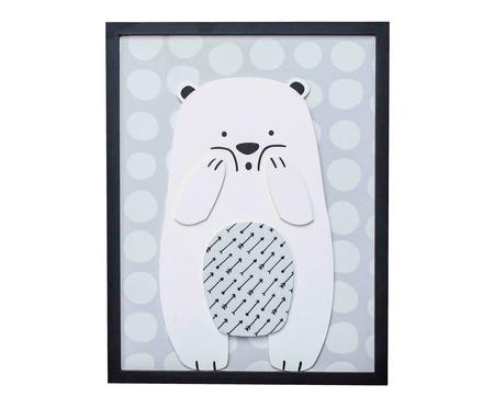 Quadro Urso l - Preto   WestwingNow