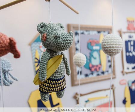 Móbile Crochê Surfista - Azul | WestwingNow