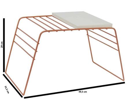 Mesa de Apoio com Revisteiro Otto - Acobreada | WestwingNow