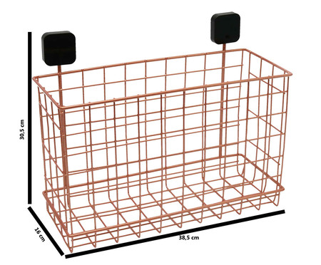 Organizador de Parede Grid - Acobreado e Preto | WestwingNow