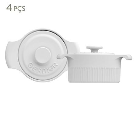 Jogo de Mini Cocottes em Porcelana Gerdanne - Branca | WestwingNow