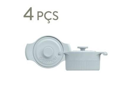 Jogo de Mini Cocottes em Porcelana Gerdanne - Azul | WestwingNow