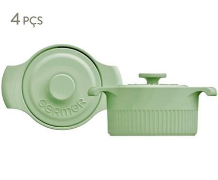 Jogo de Mini Cocottes em Porcelana Gerdanne - Verde   WestwingNow