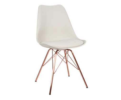 Cadeira Lara - Off White, Rosa | WestwingNow