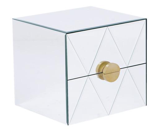 Mesa de Cabeceira Suspensa Mason - Prateada, Prata / Metálico, Espelhado | WestwingNow