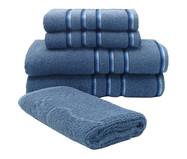 Jogo de Toalhas Classic 420G/M² - Azul Infinity | WestwingNow