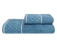Jogo de Toalhas Safira Azul Netuno 420G/M² - 02 Peças | WestwingNow