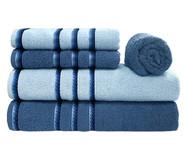 Jogo de Toalhas Classic Azul Polar e Azul Infinity 420G/M² - 05 Peças | WestwingNow