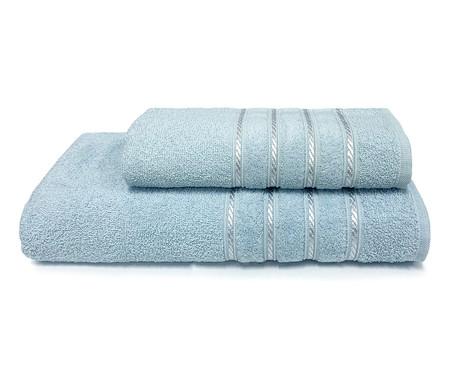 Jogo de Toalhas Monari Azul Polar e Azul Infinity 370G/M² - 04 Peças | WestwingNow
