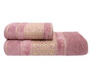 Jogo de Toalhas La Vie Rosa Místico 450G/M² - 02 Peças   WestwingNow