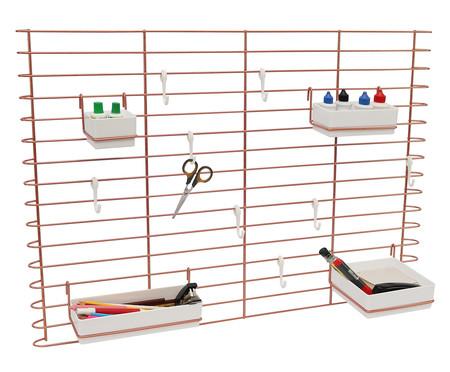 Painel Organizador Machado - Acobreado e Plástico Branco | WestwingNow