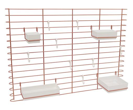 Painel Organizador Machado - Acobreado e Plástico Branco, Cobre | WestwingNow
