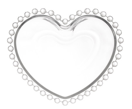 Saladeira Coração em Cristal Pearl - Transparente | WestwingNow