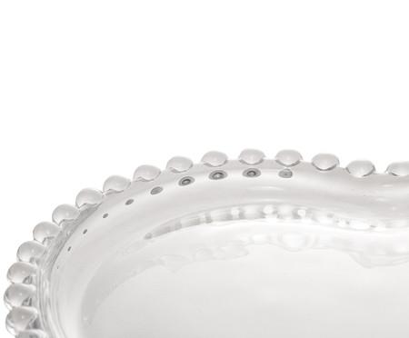 Jogo de Pratos Coração em Cristal Pearl - Transparente   WestwingNow