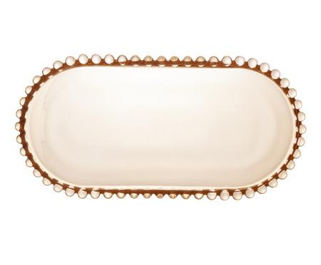 Travessa Oval para Servir em Cristal Pearl - Âmbar | WestwingNow