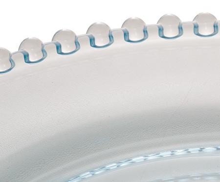 Prato de Sobremesa em Cristal Pearl - Azul | WestwingNow