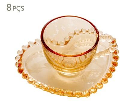 Jogo de Xícaras para Café em Cristal Pearl - Âmbar | WestwingNow