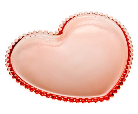 Prato Coração em Cristal Pearl - Rosa | WestwingNow