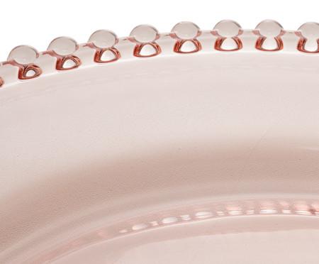Prato de Sobremesa em Cristal Pearl - Rosa | WestwingNow