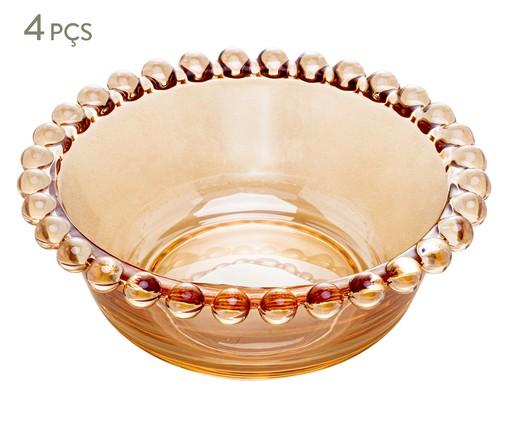Jogo de Bowls em Cristal Pearl - Âmbar, Âmbar   WestwingNow