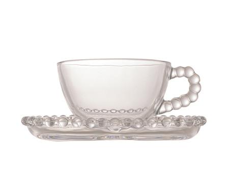 Jogo de Xícaras para Chá em Cristal Pearl - Transparente | WestwingNow